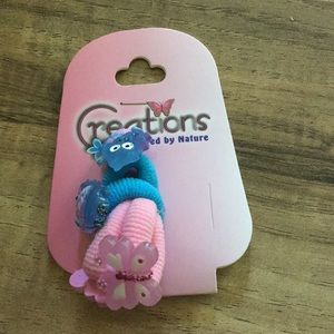 NWT Creations girls owl & butterfly hair ties